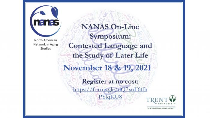 NANAS On-Line Symposium: Contested Language and the Study of Late Life. Nov. 18 & 19, 2021r
